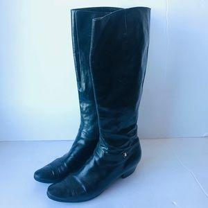 Salvatore Ferragamo vintage black leather boots